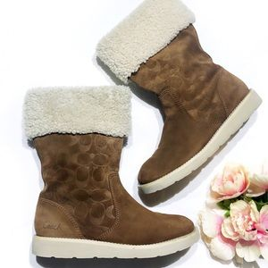 Coach Kally Signature Suede Boot
